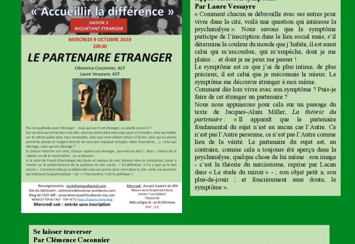 Lapsus Séminaire de Toulouse
