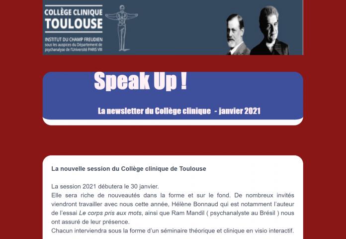 Rentrée du Collège clinique de Toulouse : Modalités de la présence dans la clinique